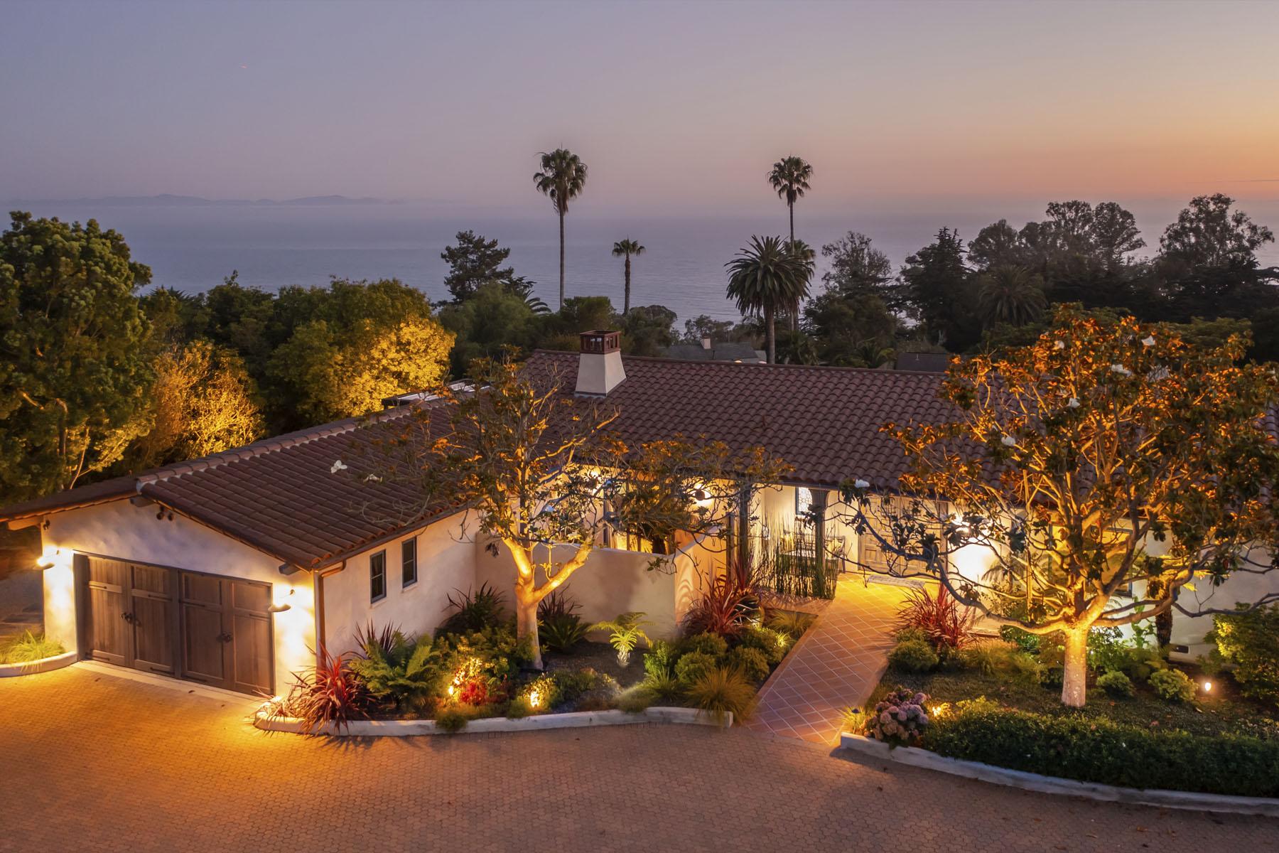 Campanil home exterior; Hope Ranch