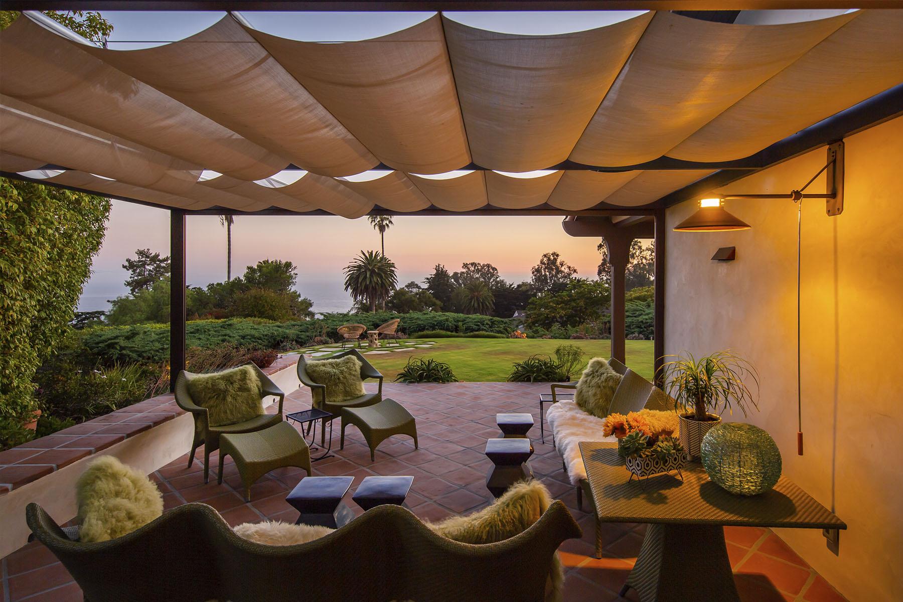 Campanil patio; Hope Ranch