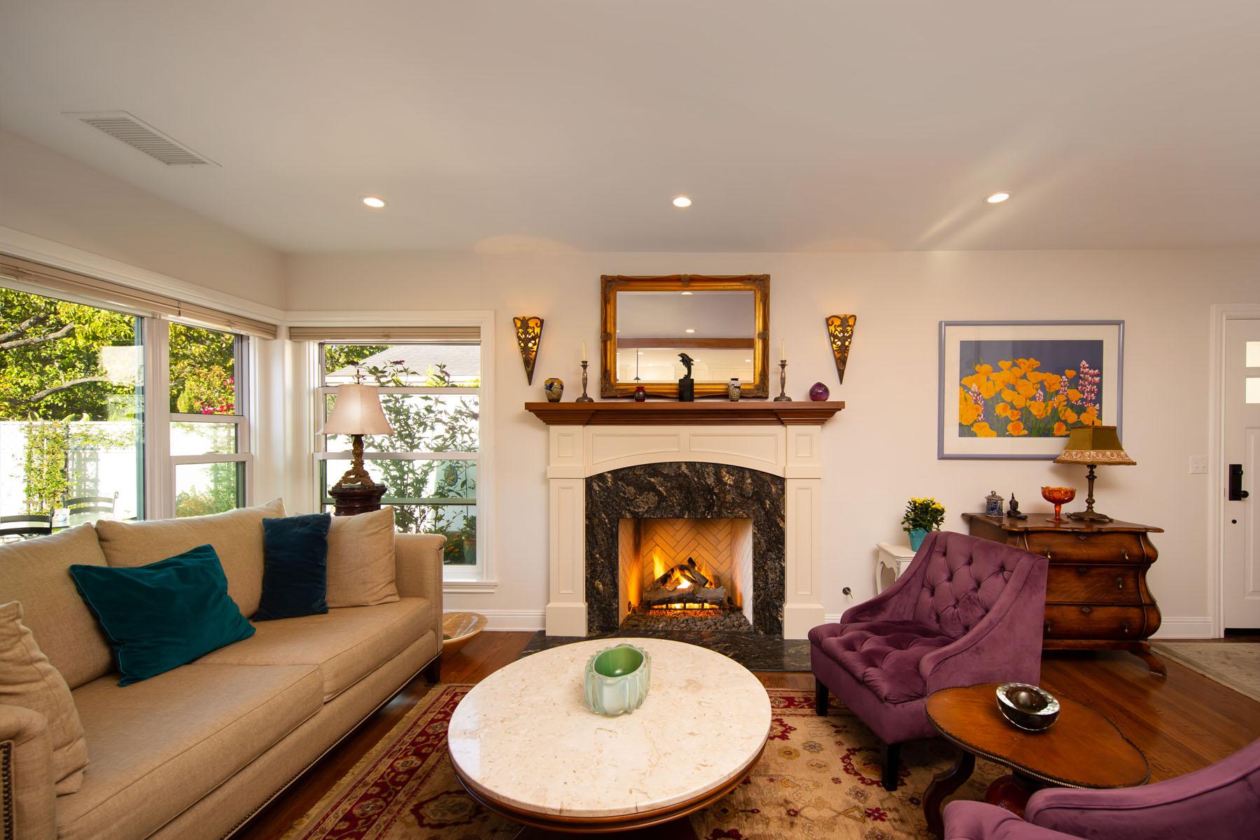 Cedar home living room