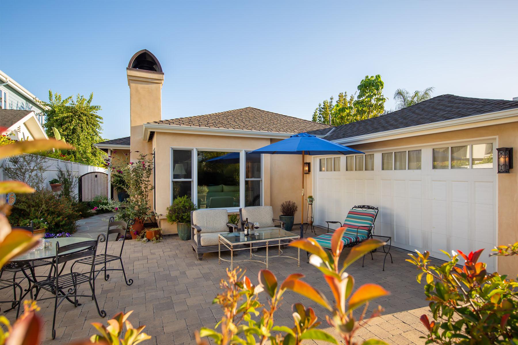 Cedar home patio entrance
