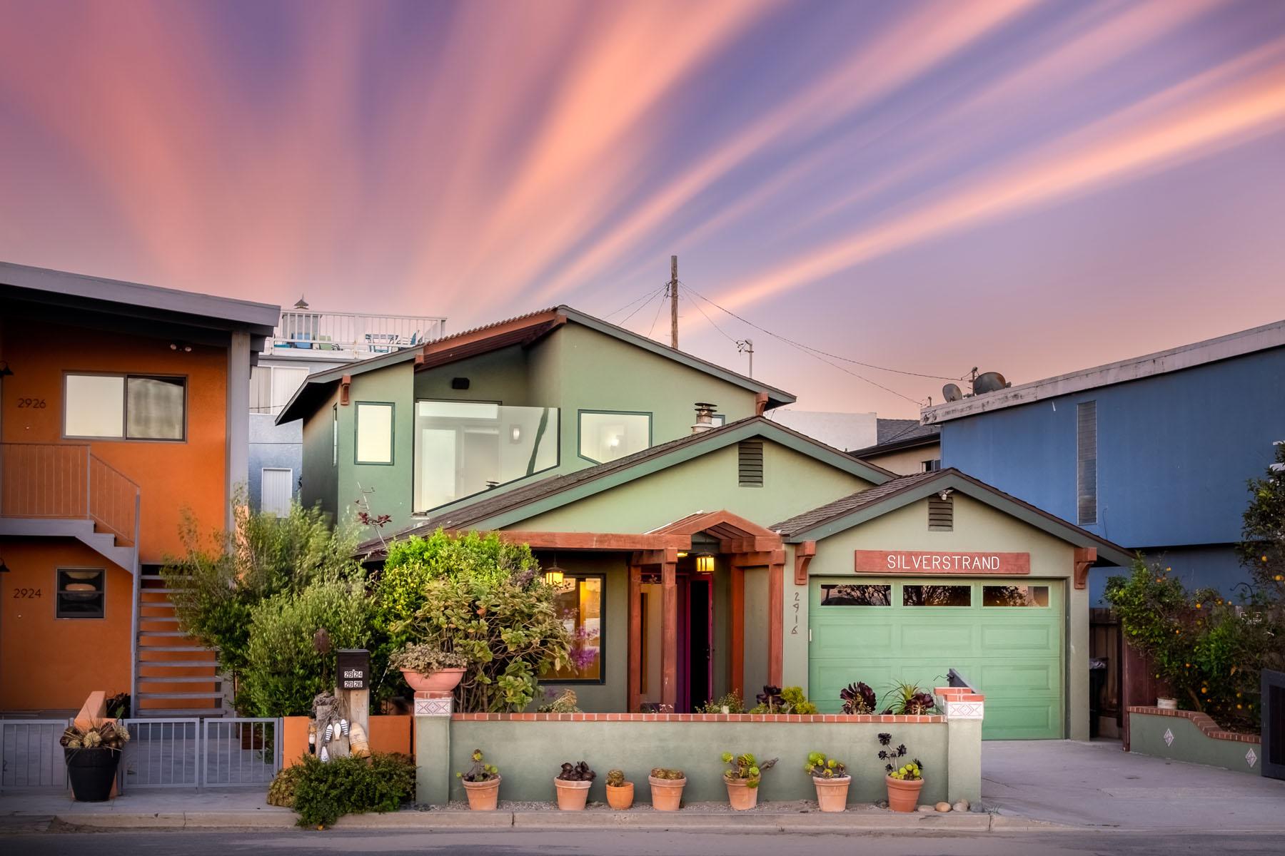 Strand home exterior; Silver Strand, CA