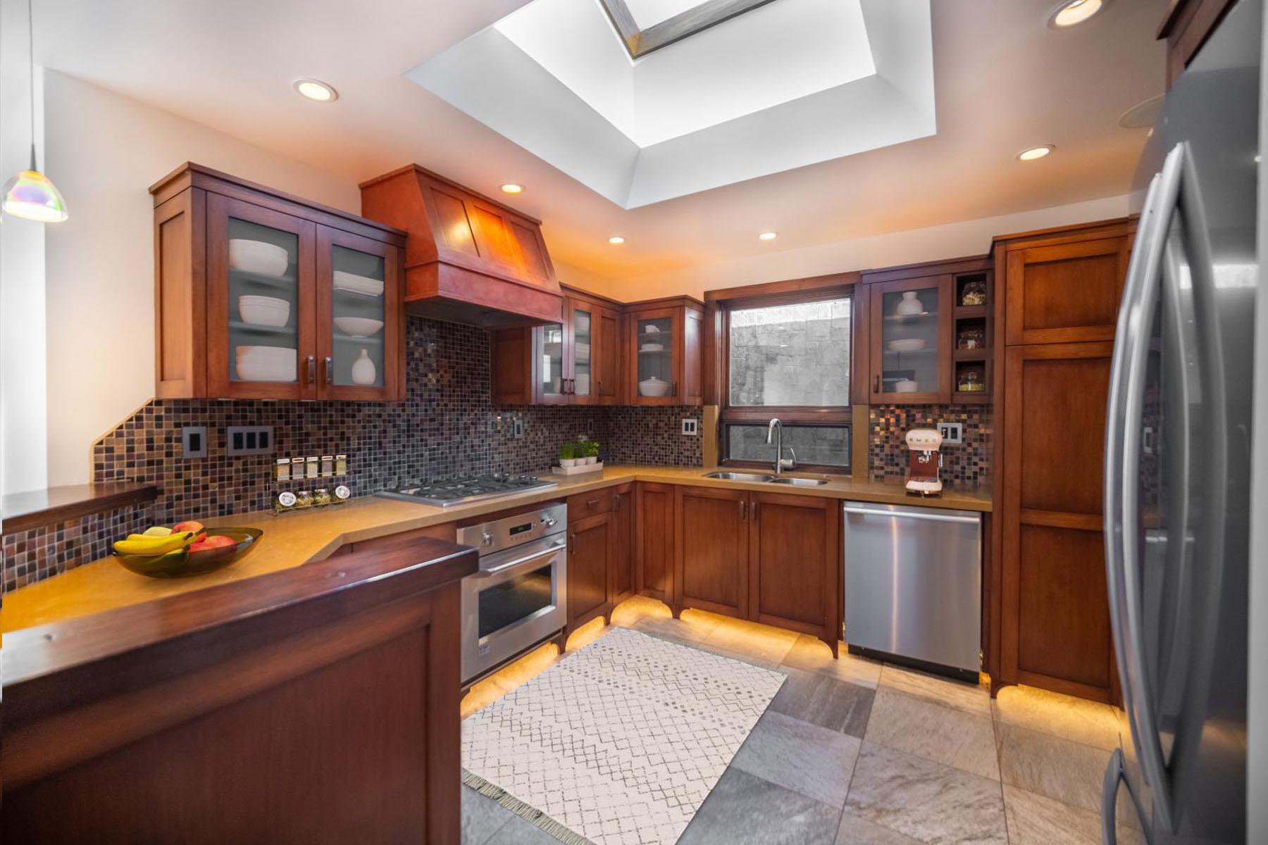 Strand home kitchen; Silver Strand, CA