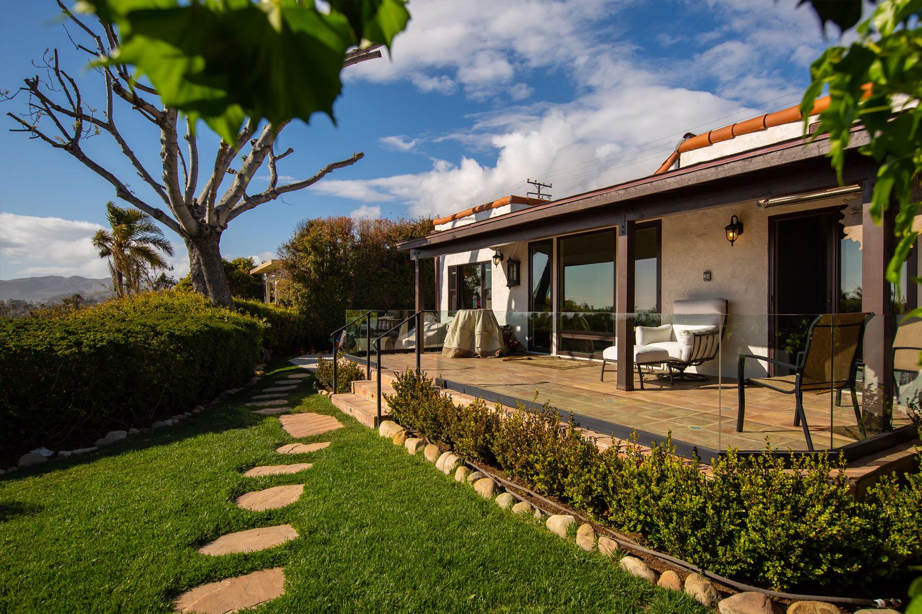 Vista del Mar back patio exterior; Ventura, CA